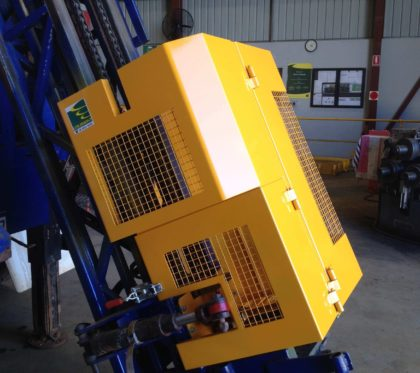 Hinged Safety Guard for Drilling Rig