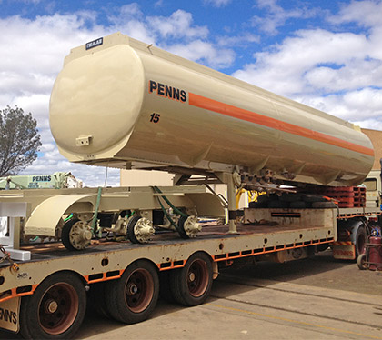 Tanker after repairs, sandblasting and painting