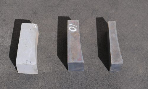 Example of equipment spare parts for sale: 3 sizes of bucket stops for underground loader buckets
