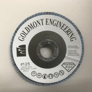 125mm x 22.2mm G40 flap disc available in stock in Kalgoorlie