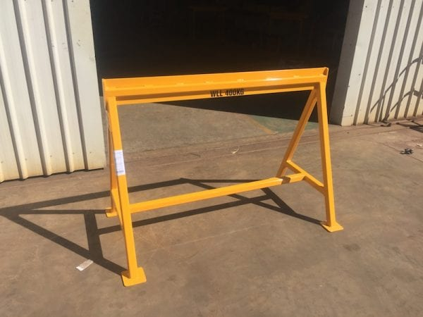 Steel Work Trestle with certified working load limit. Manufactured in Kalgoorlie.