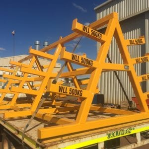 Steel Sections Rack or drill rod rack, certified to stated working load limits.