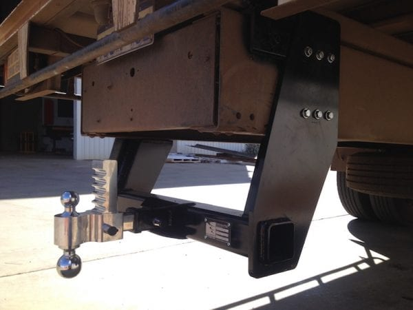 Truck tow hitch with adjustable height and dual size towing balls