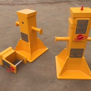 Heavy Industry support equipment for sale: Safety Stands for supporting equipment with spacer that can be removed to adjust height.