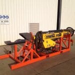 Fabricated frame for transport drill rig