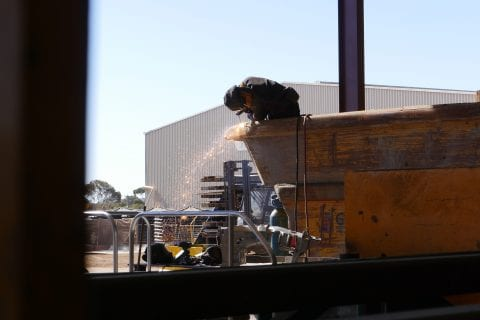 UG Mining Mobile Plant repairs - Gouging