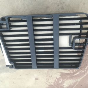 Rear grill for CAT R1300 underground loader to protect radiator