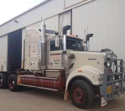 Heavy truck after repairs and painting