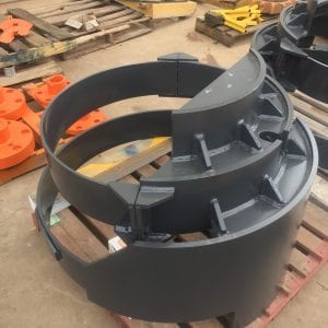 Hitachi excavator final drive covers hat