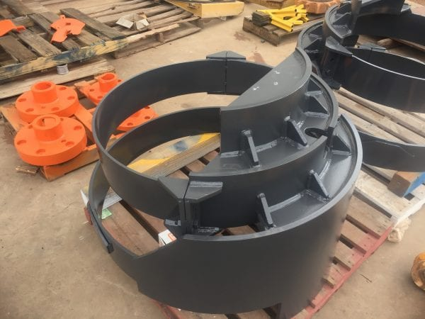 Hitachi excavator final drive covers