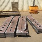 Dozer ripper shanks made from Hardox Hituf