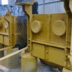 Speedliner protective coating on CAT truck parts