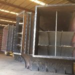3-way elbow ducting for mine ventilation system ctiona