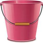 Sturdy metal bucket