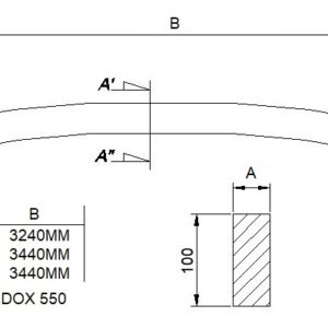 Profile bars for CAT underground loader bucket