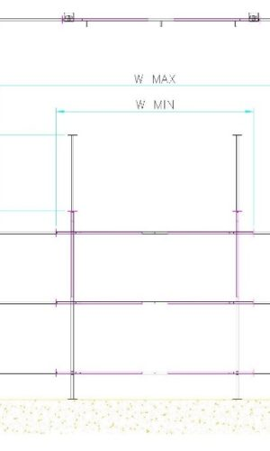 Drawing of straight wall kits showing dimensions to specify when ordering